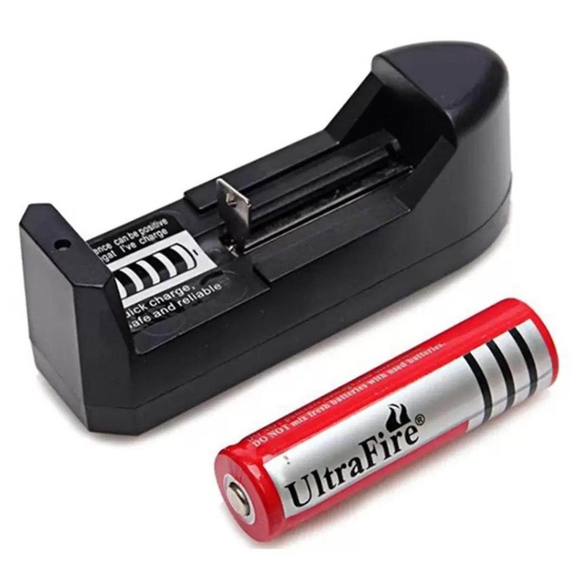 Đèn pin Laser Laze MV – 303 (Đen) tặng pin sạc và sạc