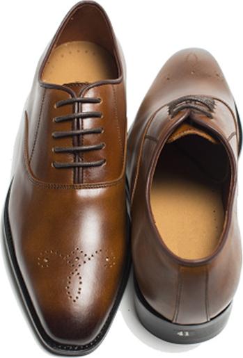 Giày buộc dây đục lỗ da trơn màu nâu ( PN-354)