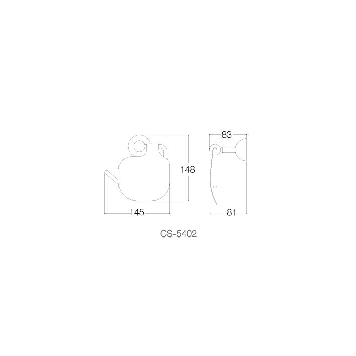 Móc, lô giấy vệ sinh - INOX SUS 304 CS-5402