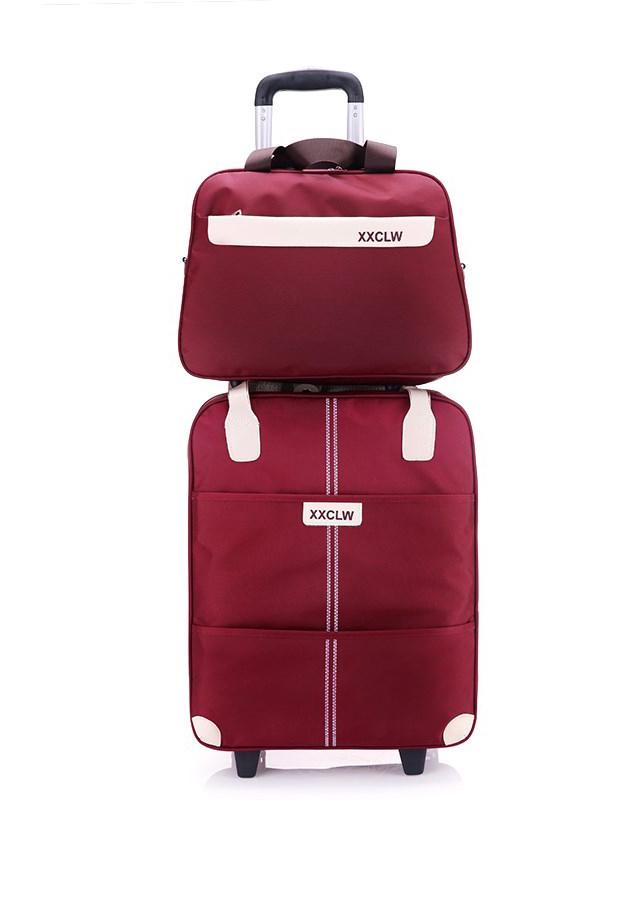 Túi du lịch tay kéo XXCLW 18inch 35x20x39cm tặng kèm túi