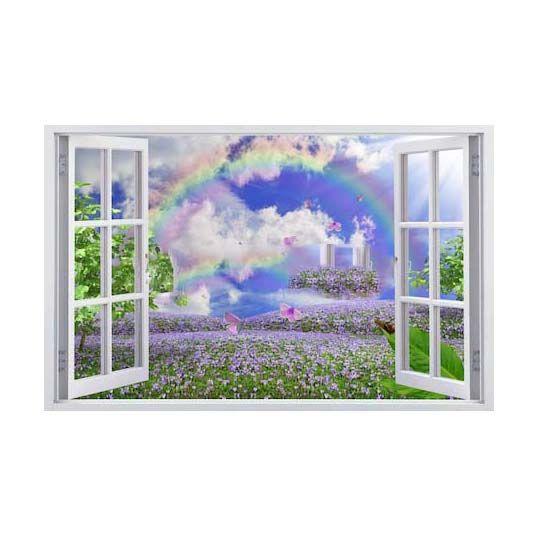 Tranh Dán Tường 3D | Tranh dán tường cửa sổ 3D | T3DMN_T6_011