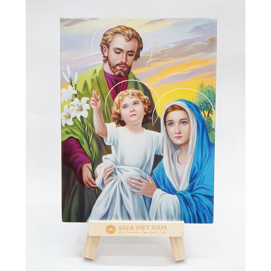 Tranh sơn mài Gia đình thánh gia