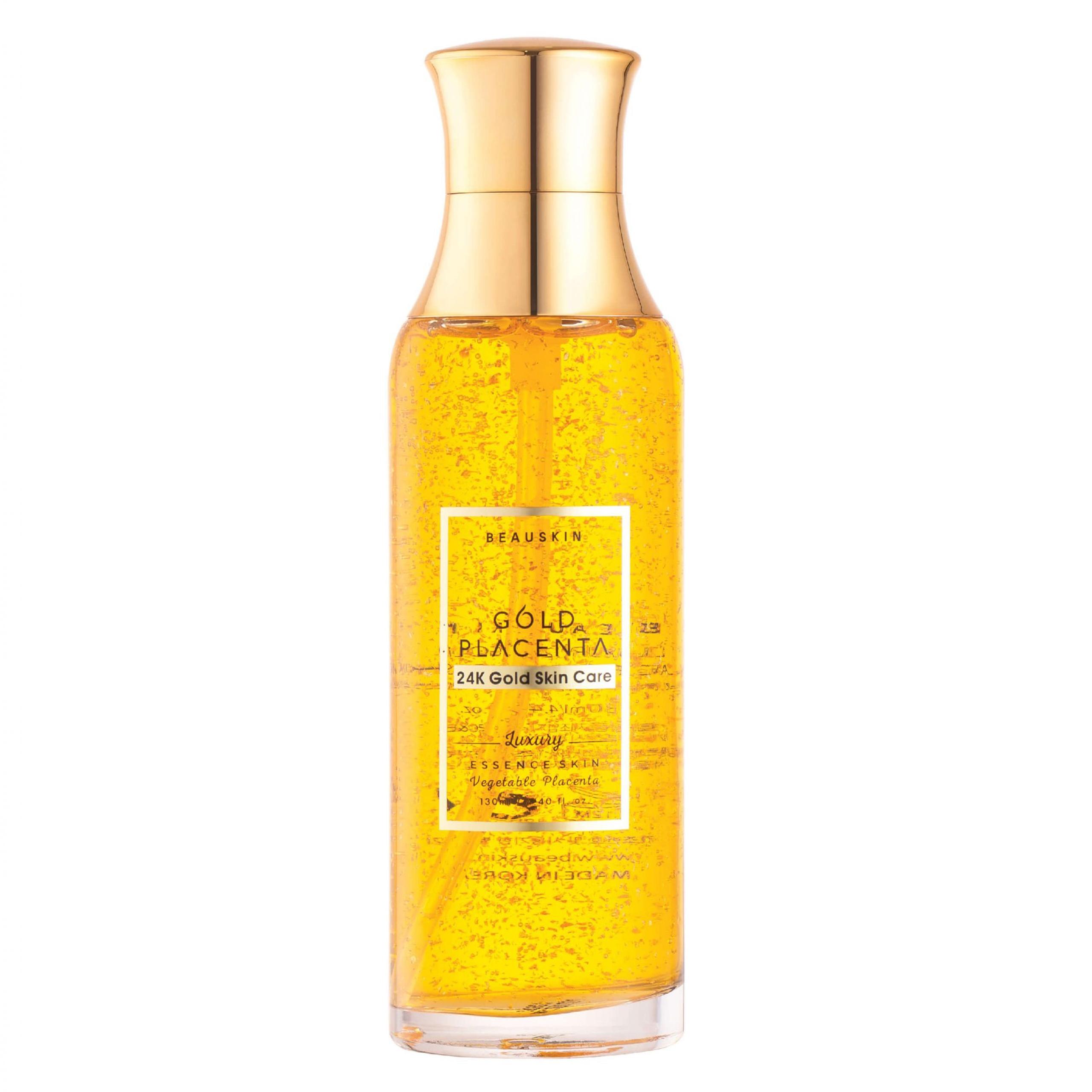 Nước hoa hồng dưỡng ẩm se khít lỗ chân lông Beauskin Placeta gold Hàn Quốc 130ml tặng kèm móc khóa