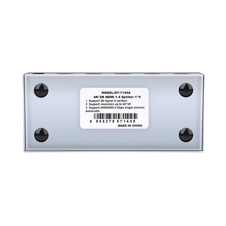 Bộ Chia HDMI 1 ra 4 Dtech DT-7144A - Hàng Chính Hãng