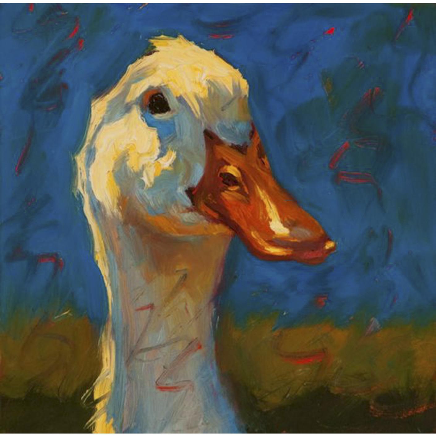 Tranh sơn dầu họa sỹ sáng tác vẽ tay: VỊT NẮNG (11)