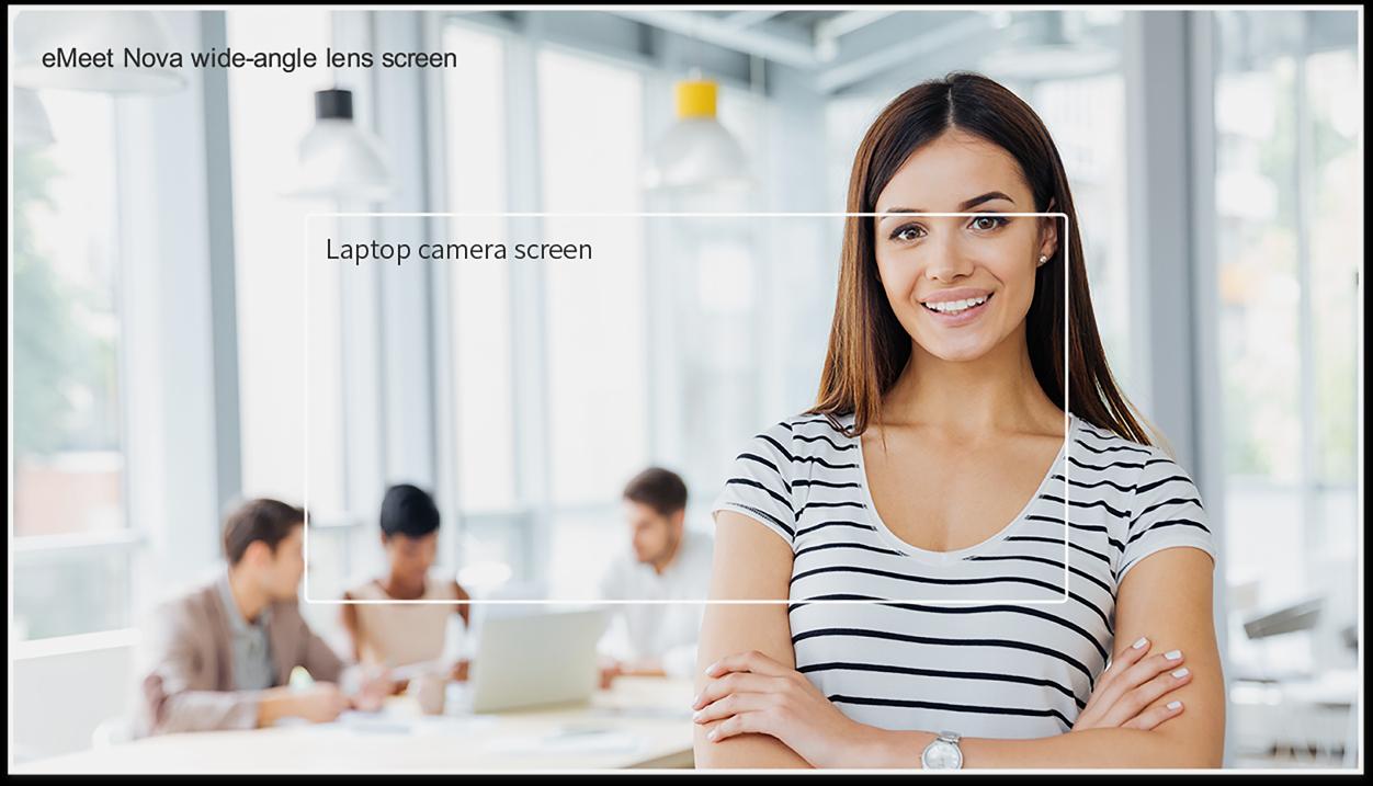 Webcam Emeet Nova - Họp Trực Tuyến Góc Rộng 78 Độ, Full HD 1080p, Khung Hình 30fps, Auto Focus - Hàng Chính Hãng
