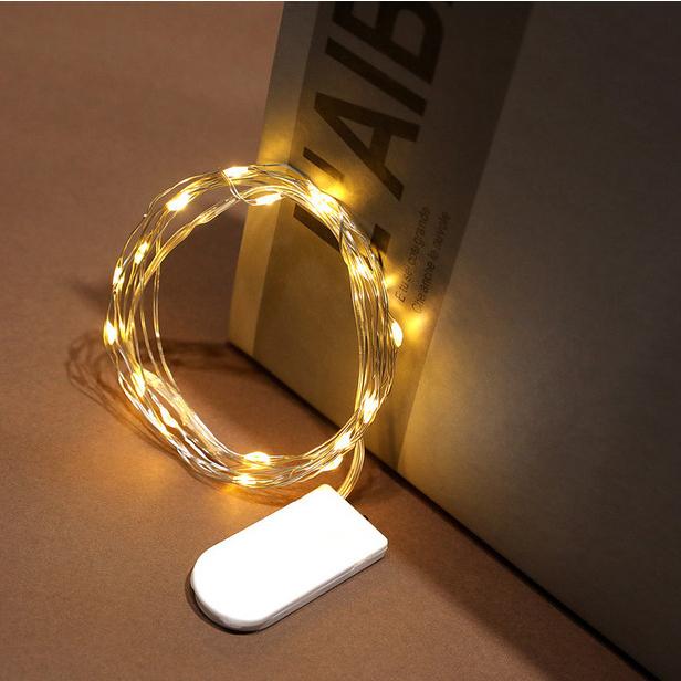 Dây đèn led đom đóm trang trí dùng pin CR-2032