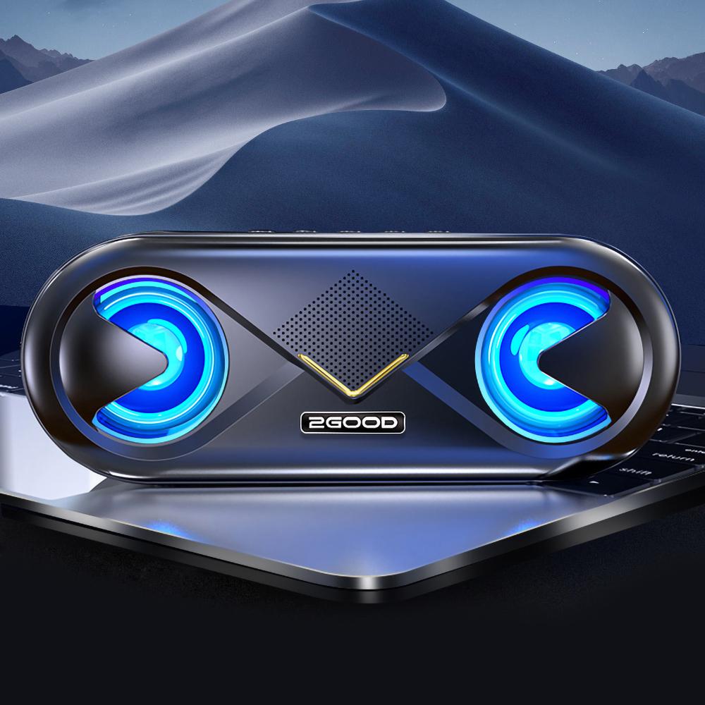 Loa bluetooth 5.0 2Good S6 (Có đèn led nháy theo nhạc, thời lượng pin trâu) - Hàng Chính Hãng