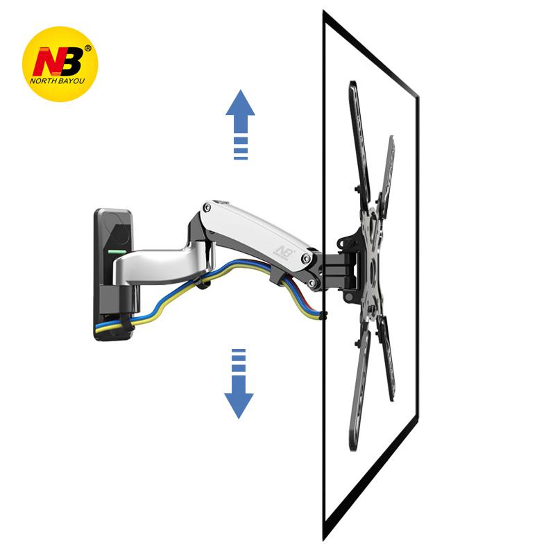 Giá treo tivi tường nhập khẩu F450 có thể nâng lên hạ xuống được dùng cho tivi 40-50inch, xoay 180 độ