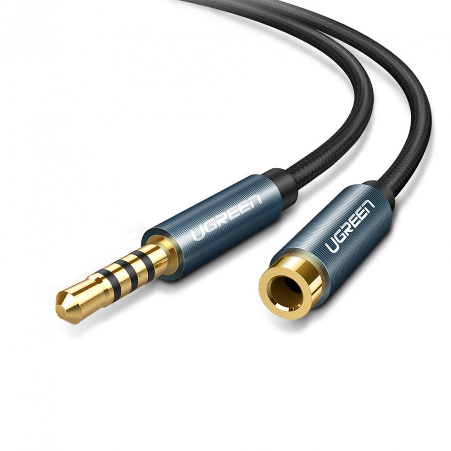 Cáp nối dài loa Ugreen 40674 dài 1,5m chính hãng hỗ trợ mic