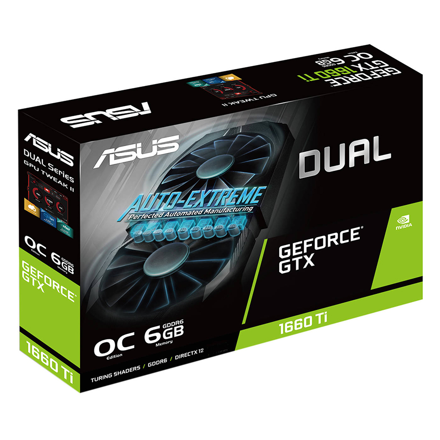 Card Màn Hình VGA ASUS DUAL-GTX1660TI-O6G GDDR6 6GB 192-bit - Hàng Chính Hãng
