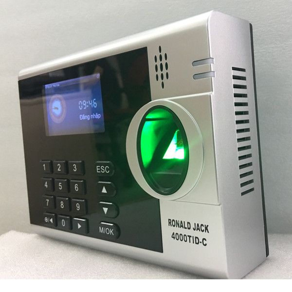 Máy chấm công vân tay và thẻ cảm ứng Ronald Jack 4000 TID-C - Hàng Nhập Khẩu