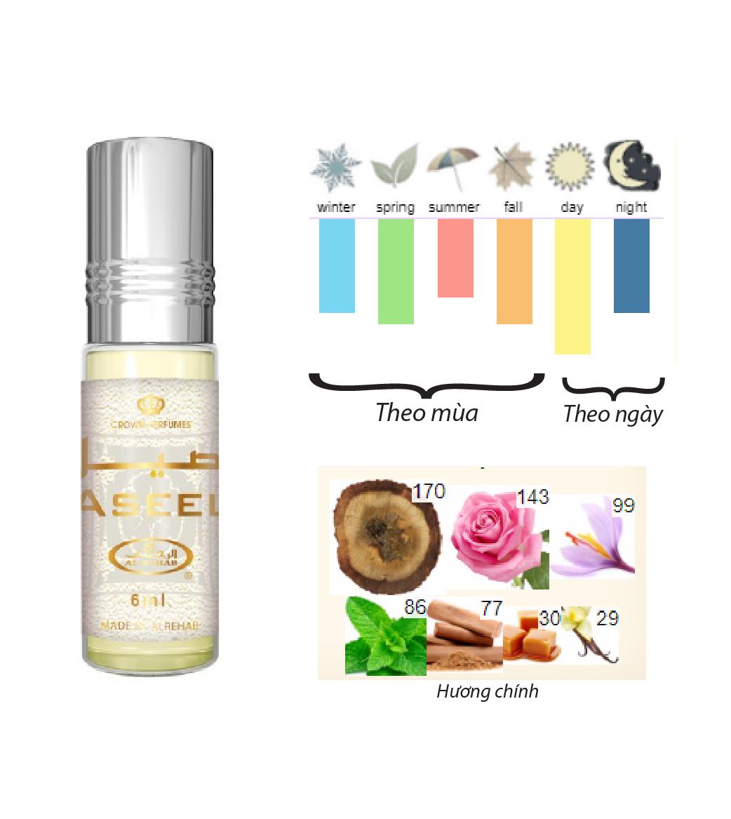 Tinh dầu nước hoa  NỮ_ASEEL Al-Rehab (hàng chính hãng )