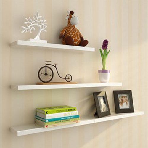 Kệ gỗ treo tường thanh ngang – kệ gỗ treo tường phòng khách (3 thanh)
