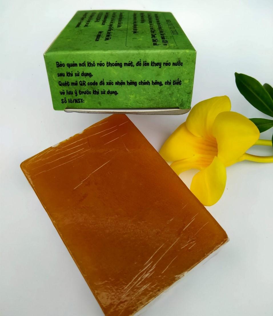 Xà bông Sinh Dược Mật ong mẫu bao bì vẽ mộc, bánh 100gr, hương mật ong nhẹ nhàng, làm sạch da, dưỡng da dịu nhẹ, có thể dùng cho da mặt