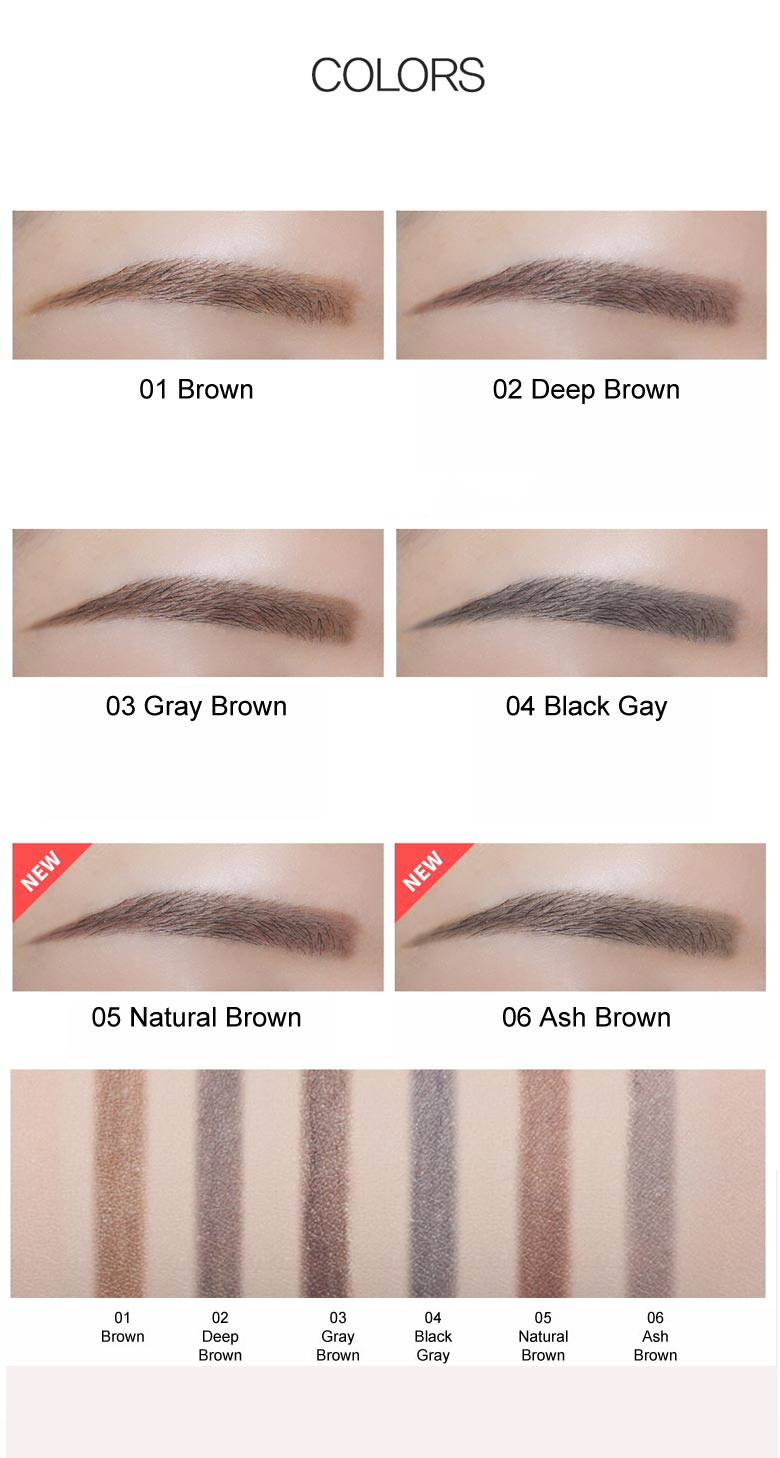 Chì Kẻ Mày Ngang 2 Đầu The Saem Saemmul Artlook Eyebrow  05 Natural Brown