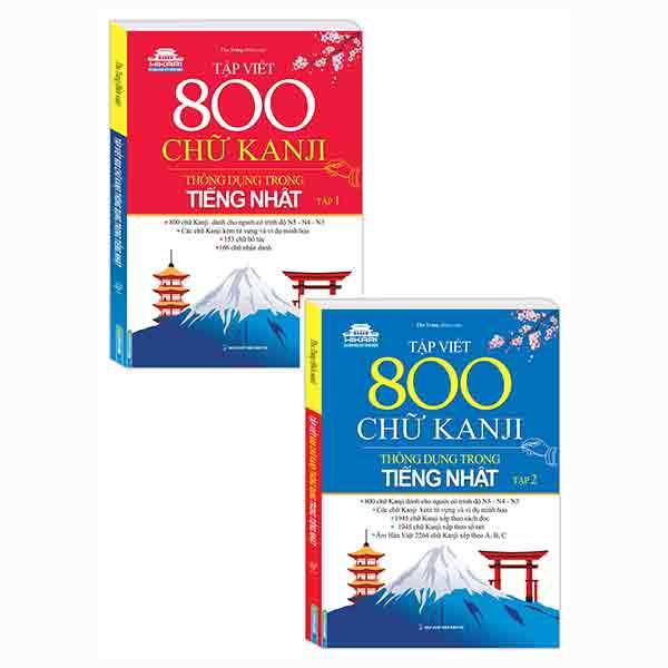 Combo Tập Viết 800 Chữ Kanji Thông Dụng Trong Tiếng Nhật (Bộ 2 Tập)