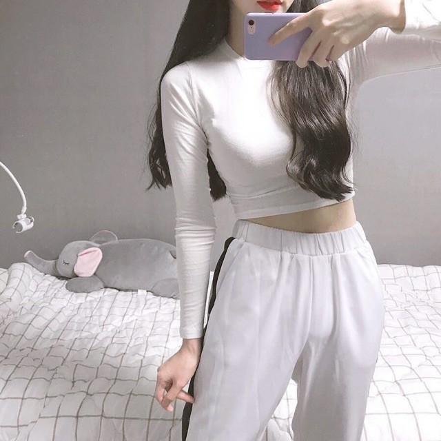áo croptop nữ dài tay