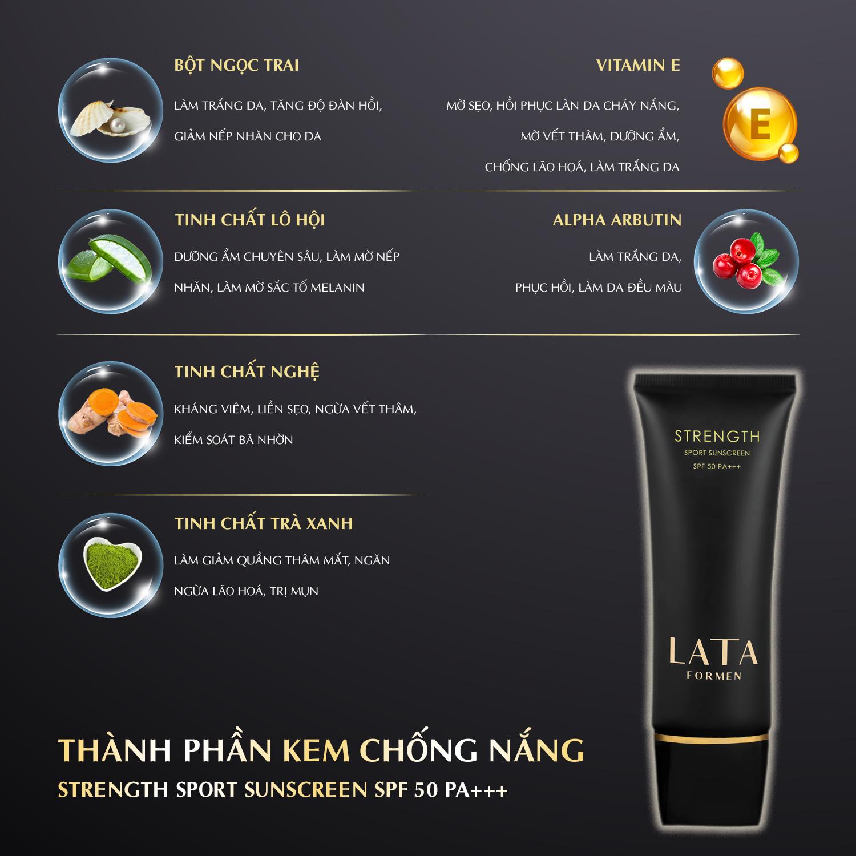 Kem Chống Nắng LATA ForMen Sport Sunscreen SPF 50 PA+++  (2 tuýp)