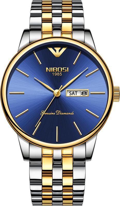 Đồng hồ nam NIBOSI 2332 dây thép đúc cao cấp có lịch ngày size 40mm JS-NI2332