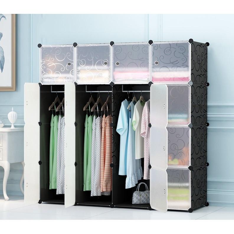 Tủ đựng quần áo ghép đa năng 16 ô