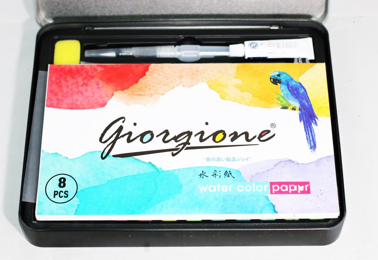 Bộ 36 Màu Nước Vẽ Cao Cấp Giorgione - Hộp Đen (Phiên Bản Mới)