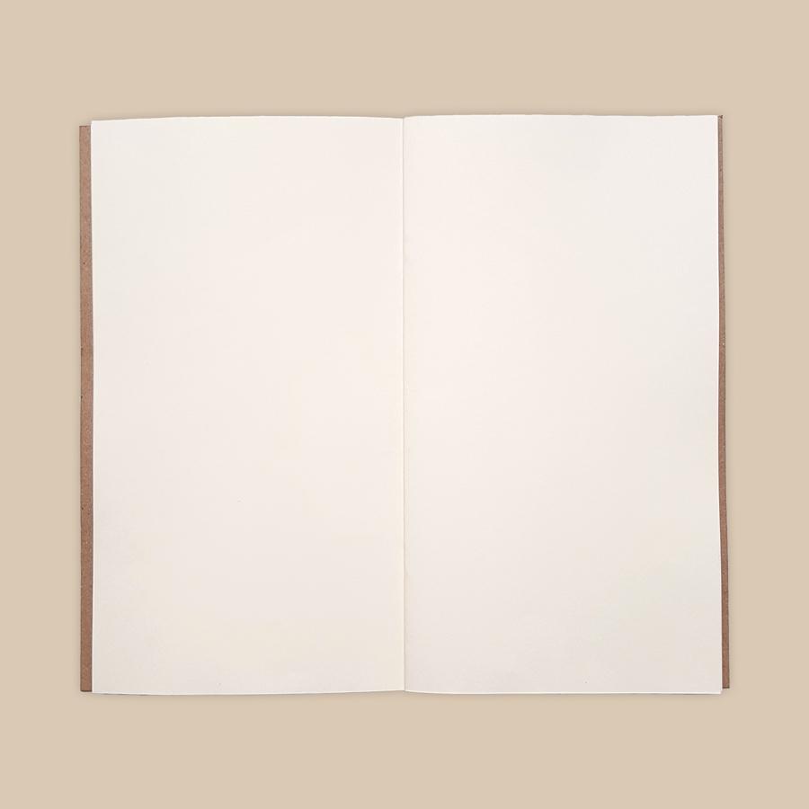 Sổ da Midori Màu Ngựa Điên size regular 23x12 gồm 3 ruột sổ Trắng trơn