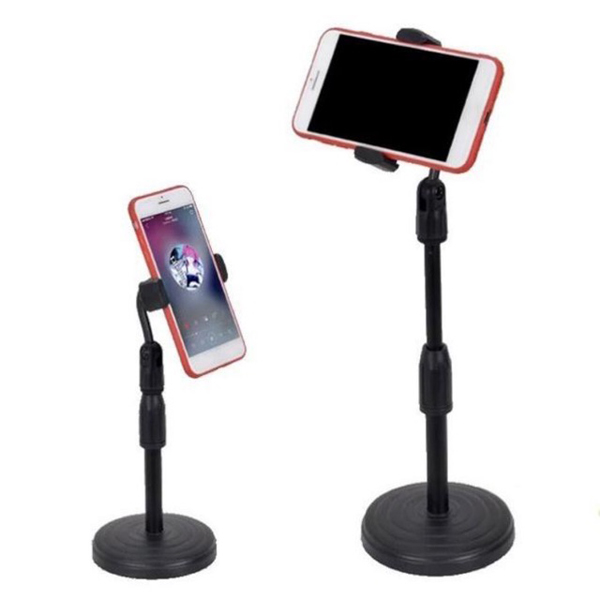 Giá đỡ có chân đế, kẹp điện thoại để bàn đa năng tiện dụng xoay 270 độ, livestream, giải trí
