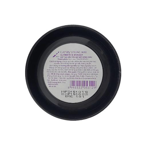 Wax Tạo Kiểu Tóc Xoăn Lọn Rối Solid Mohawk Phong Cách Lãng Tử Ultimate & Shaggy + Tặng Reuzel Grooming Tonic - Chính hãng - GATSBY STYLING WAX 75G