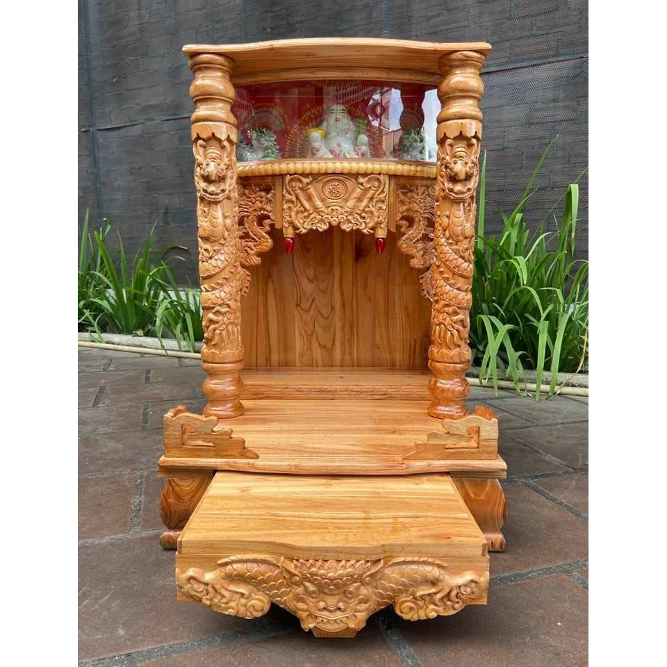 Bàn thờ thần tài ông địa có hộp đèn 56 x 88cm BTXHD5688TA