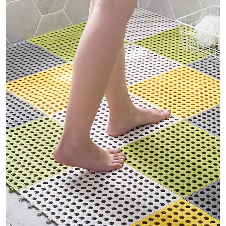 Thảm Nhựa Chống Trơn Trượt, Chống Thấm Nước Nhà Tắm 30x30cm