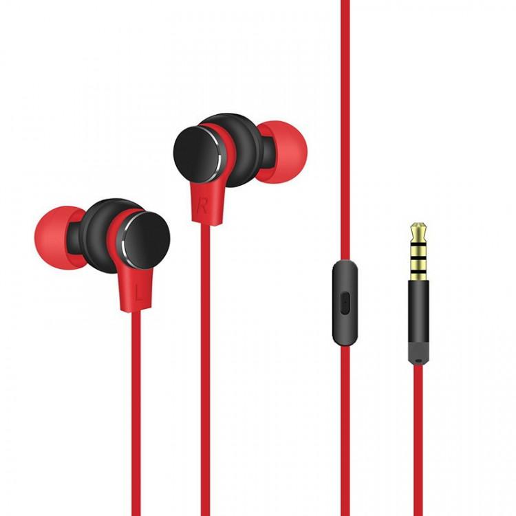 Tai nghe nhét tai có dây cho điện thoại, laptop PKCBV3 PF151 Đỏ