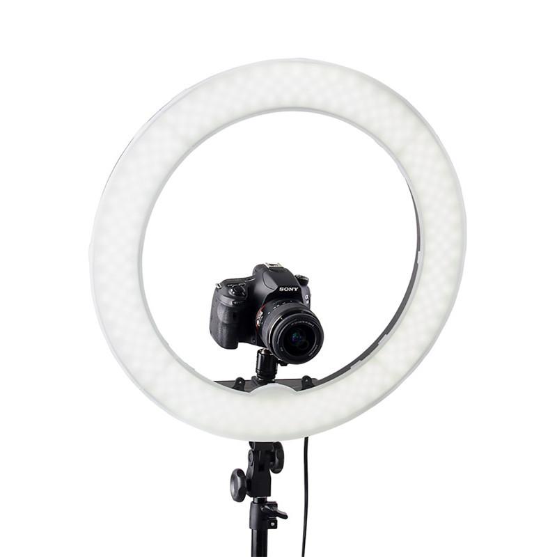 Đèn LED Ring RL-18 240 bóng led Thiết Bị Chụp Ảnh, Quay Phim Studio + Chân đế kéo dài 2m1