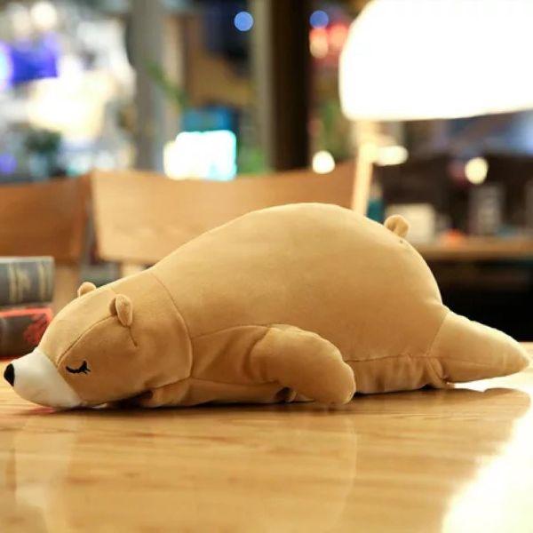 Túi Sưởi Ấm Lưng Họa Tiết Gấu nằm Đa Năng (1 Sản Phẩm)- Dùng Điện  - Màu Nâu - Mẫu TSC0271