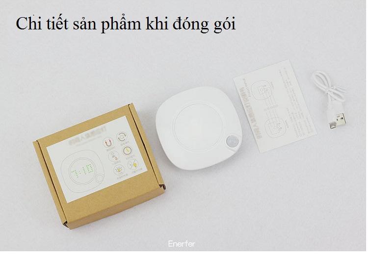 Đèn LED Cảm Biến Thông Minh  Kiêm Đồng Hồ Thiết Kế Mini Siêu Tiện Lợi.