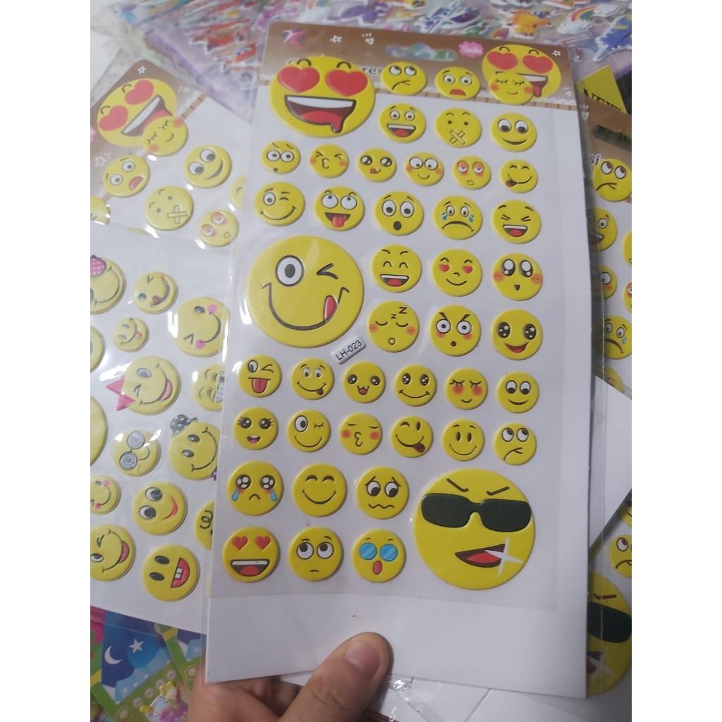 Sticker dán hình mặt cười,cute cho bé vui chơi