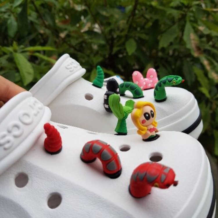 Combo 5 cái Jibbitz 3D gắn dép và balo