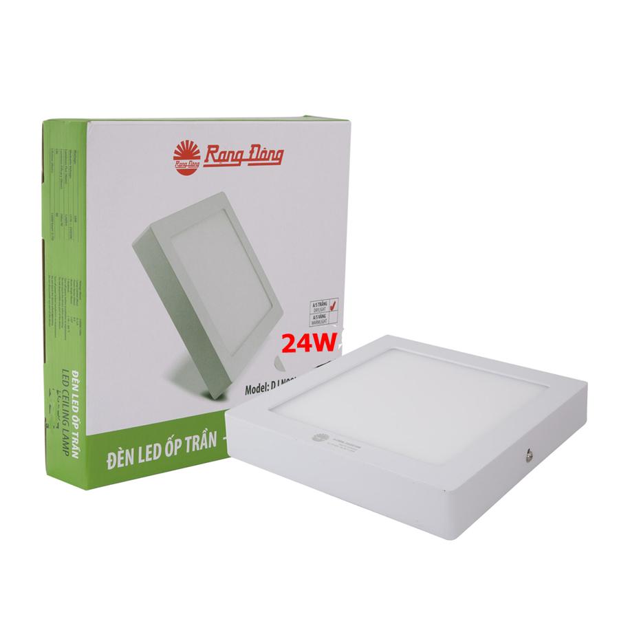 Đèn LED ốp trần vuông 24W Rạng Đông D LN 08L 30x3024w - 23642046 , 2670532647646 , 62_20779000 , 435600 , Den-LED-op-tran-vuong-24W-Rang-Dong-D-LN-08L-30x3024w-62_20779000 , tiki.vn , Đèn LED ốp trần vuông 24W Rạng Đông D LN 08L 30x3024w