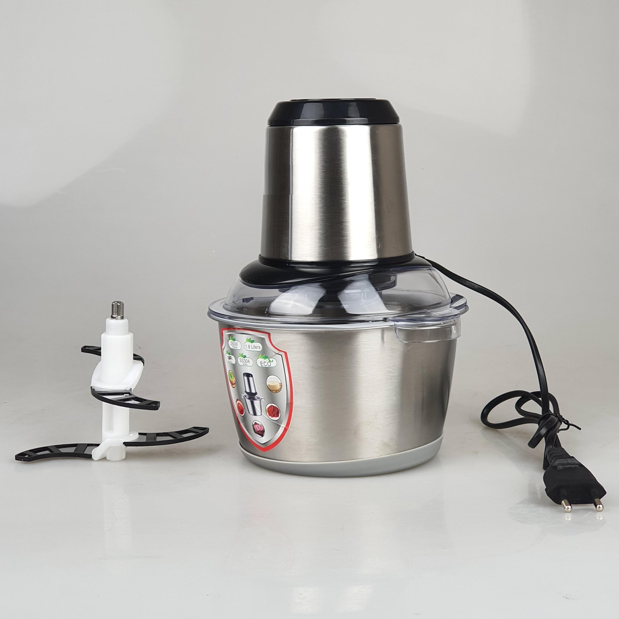 Máy xay thịt, xay cá, thực phẩm cối inox 304 dung tích 1.8L, công suất 350W xay cực nhuyễn