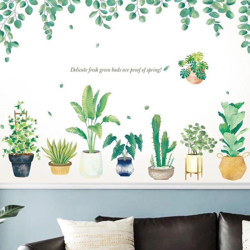 Decal dán tường Cây xanh trang trí 3 trang trí phòng khách,phòng ngủ đẹp