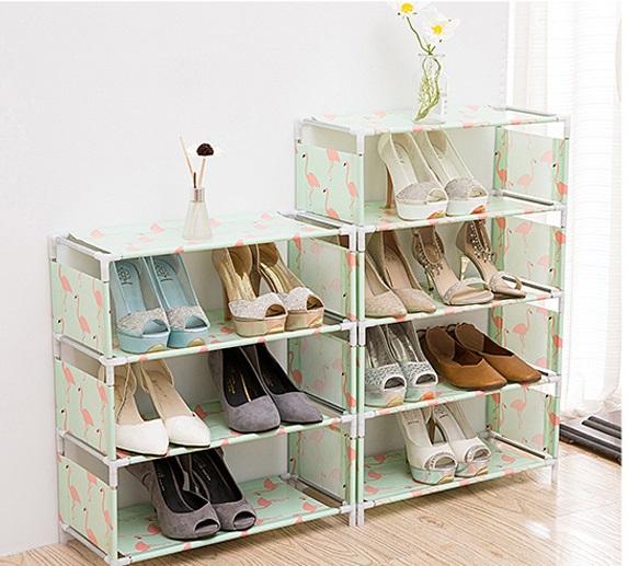 Kệ 4 tầng để sách vở, giày dép, quần áo đa năng