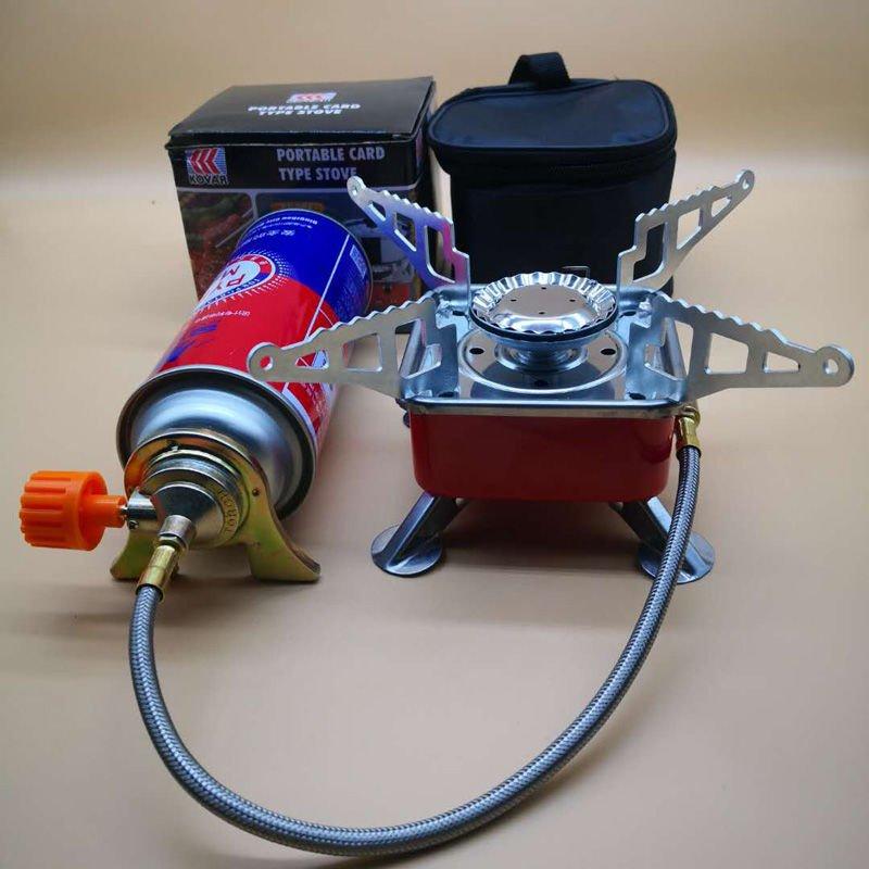 Bếp Gas Mini Du Lịch Bếp Gas Du Lịch Gấp Gọn Phù Hợp Dã Ngoại Đi Phượt Kèm Đầu Nối Van Gas