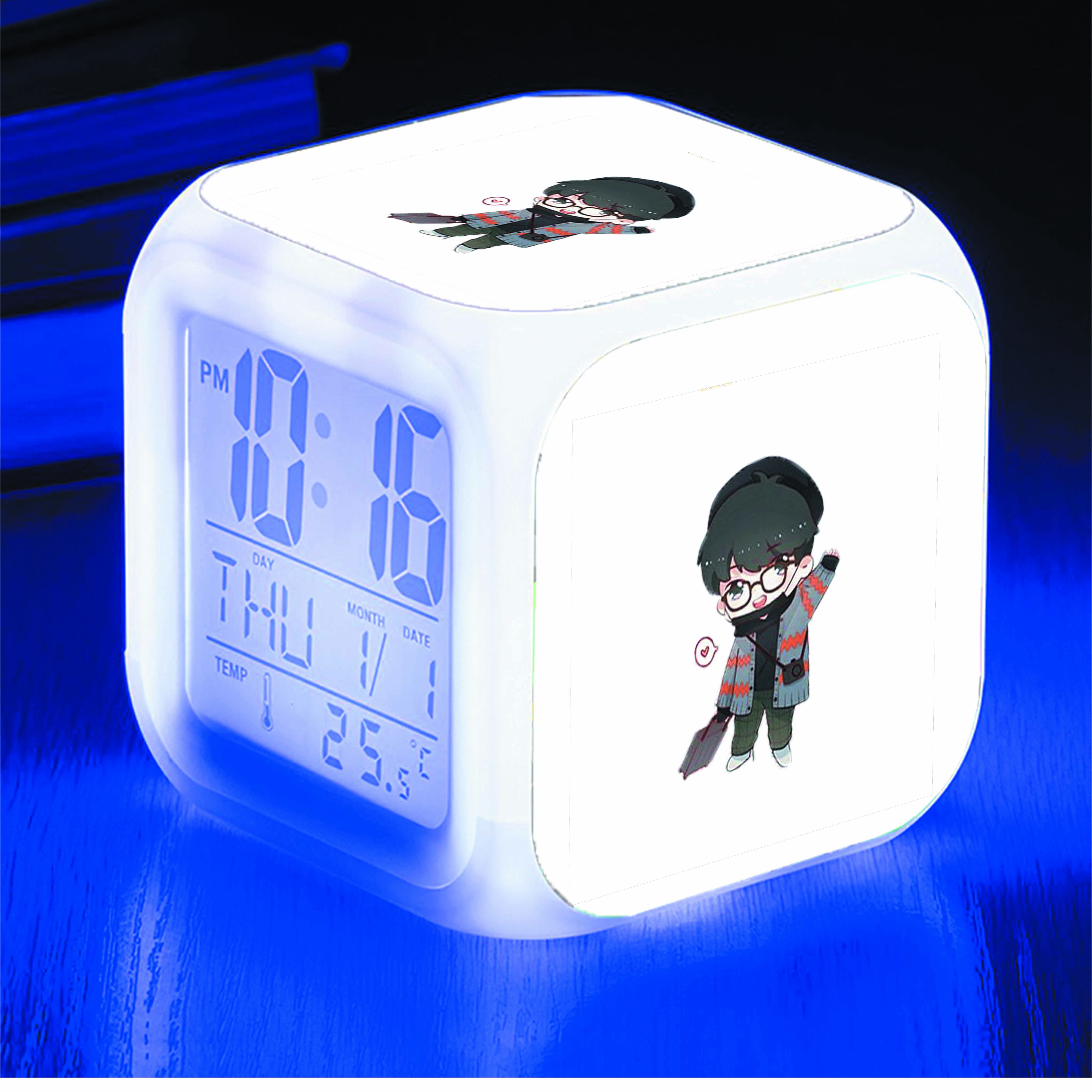 Đồng hồ báo thức để bàn IN HÌNH Tiêu Chiến thần tượng chibi
