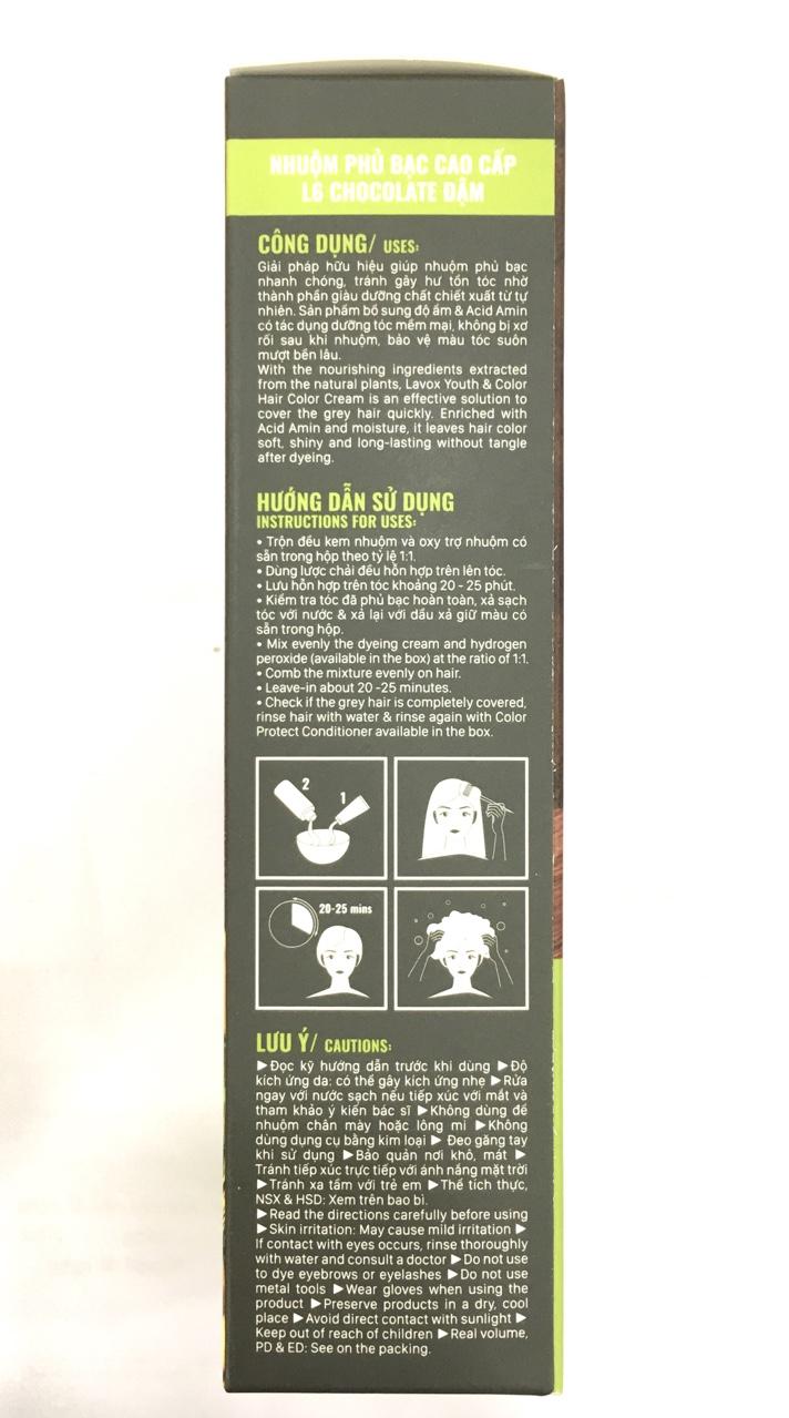 Nhuộm Phủ Bạc Cao Cấp Lavox 60ml x 2 - L6