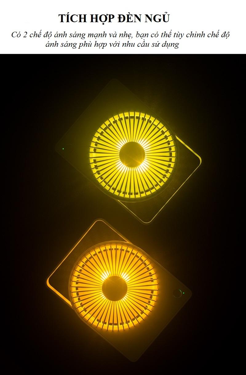Quạt du lịch có thể sạc ,có đèn -Tiện lợi cho mỗi chuyến đi