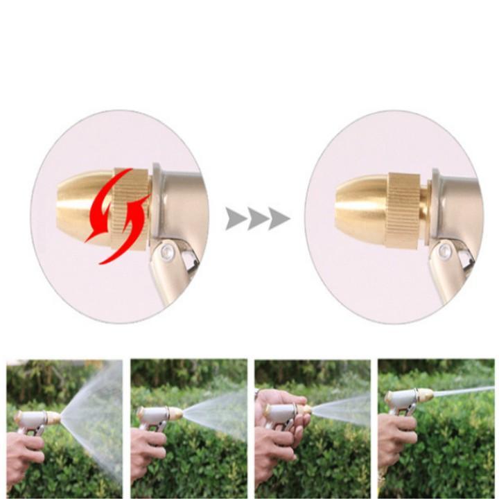 Vòi phun nước rửa xe tưới cây tăng áp thông minh giãn nở khi sử dụng 701-1709