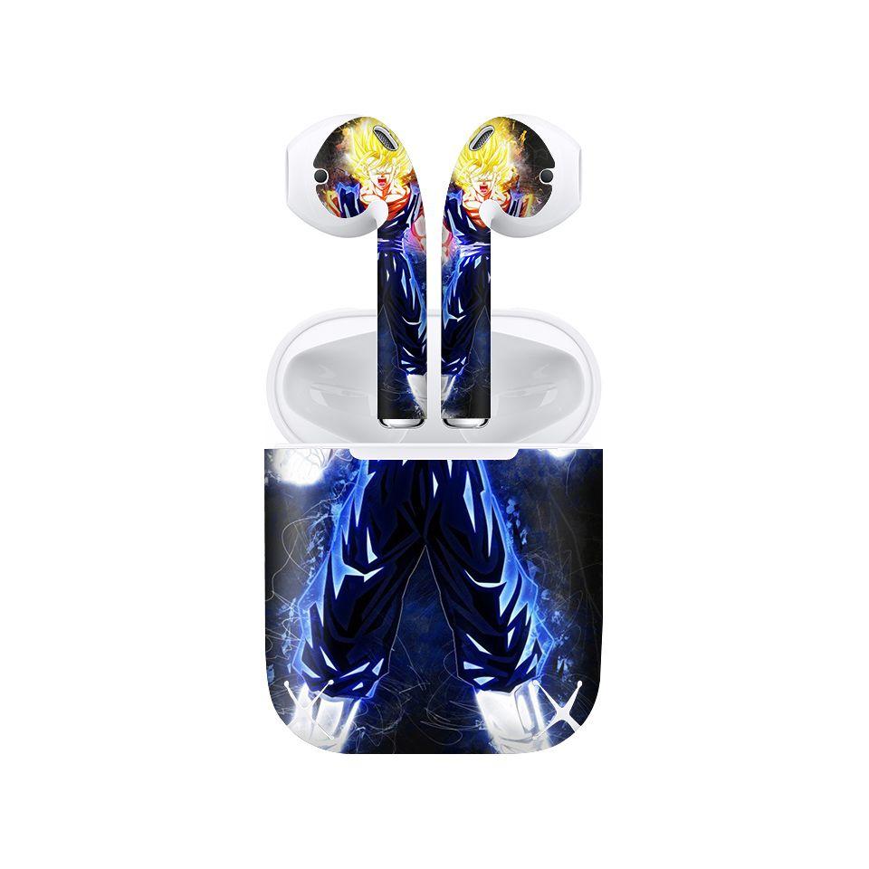Miếng dán skin chống bẩn cho tai nghe AirPods in hình Dragon Ball - Vegeto - 7vnr93 (bản không dây 1 và 2)
