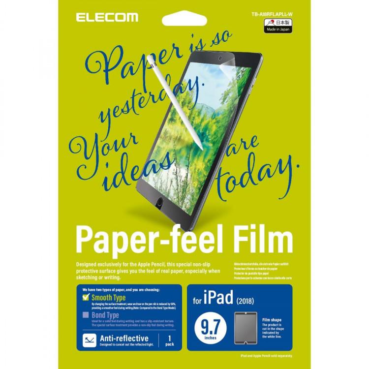 Miếng dán bảo vệ màn hình 9.7 inches Elecom Paper- Feel TB-A18RFLAPLL-W