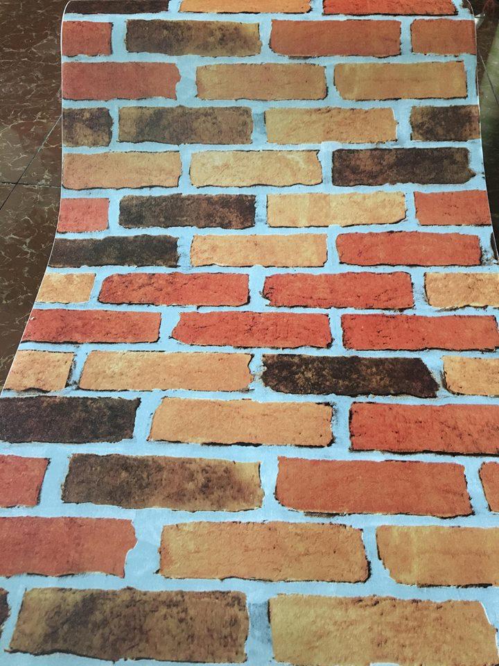 5m giấy decal cuộn gạch đỏ DT108(45x500cm)
