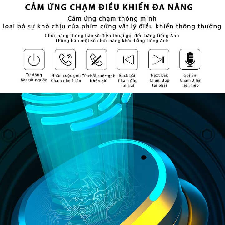 Tai nghe M8 LCD TWS Bluetooth 5.0 Kiềm Sạc Dự Phòng